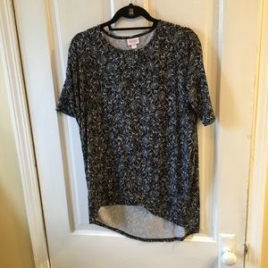 Floral Irma high-low tunic